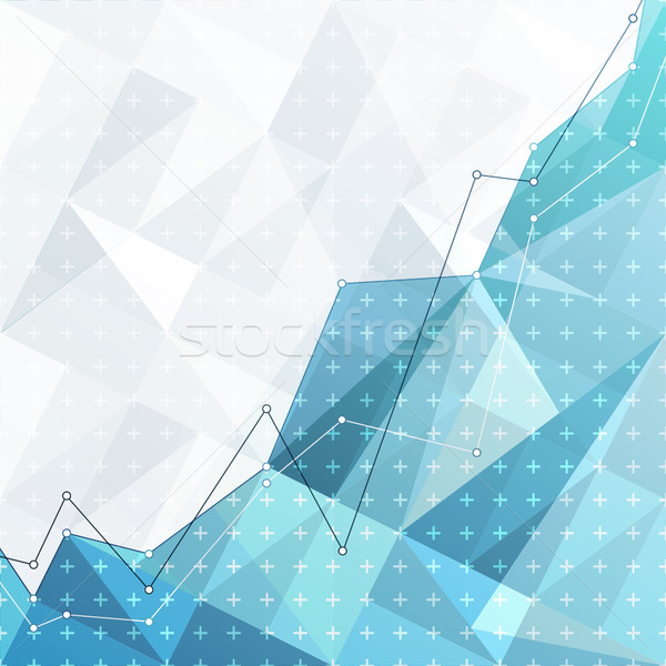 Działalności streszczenie schemat wykres wykres niebieski Zdjęcia stock © pashabo