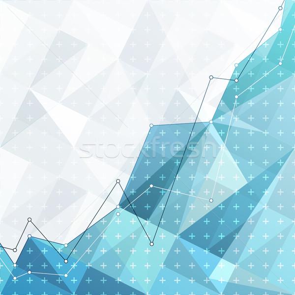 Business abstract diagram grafiek grafiek Blauw Stockfoto © pashabo