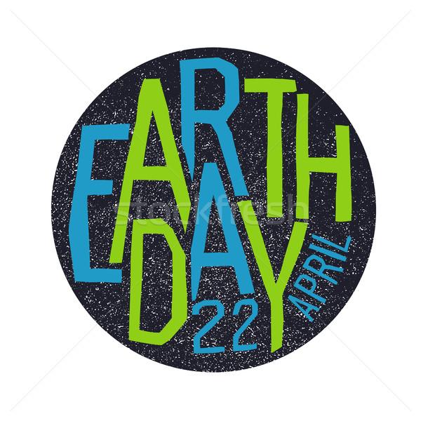 Föld napja 22 ünnep logotípus terv absztrakt Stock fotó © pashabo
