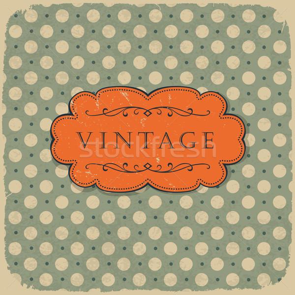 Design vintage wedding compleanno frame Foto d'archivio © pashabo