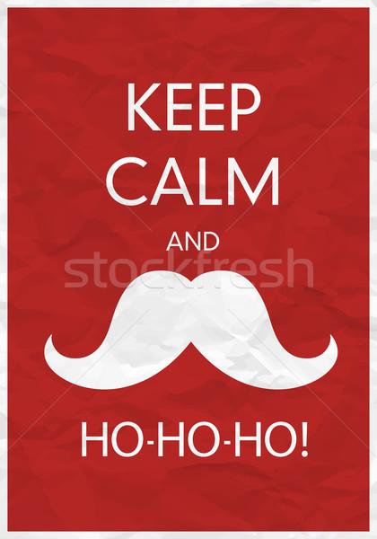 Keep Calm And Ho-Ho-Ho! Stock photo © pashabo