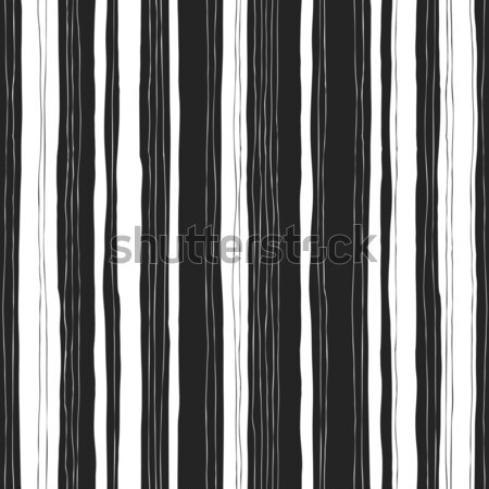Abstract black and white stripes pattern. Seamless  hand-drawn l Stock photo © pashabo