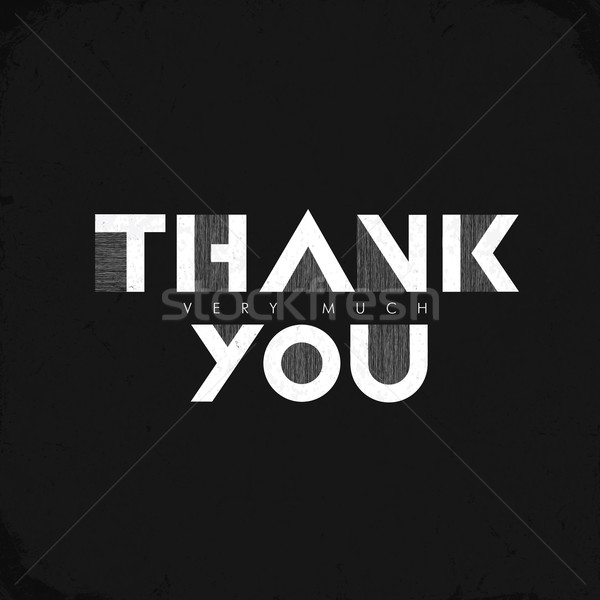 Vintage 'Thank you very much' Lettering. Grunge effects can be e Stock photo © pashabo
