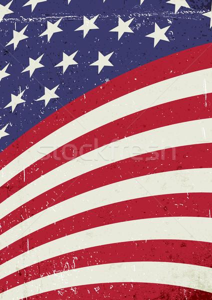 Foto d'archivio: Grunge · america · ondulato · bandiera · abstract · americano
