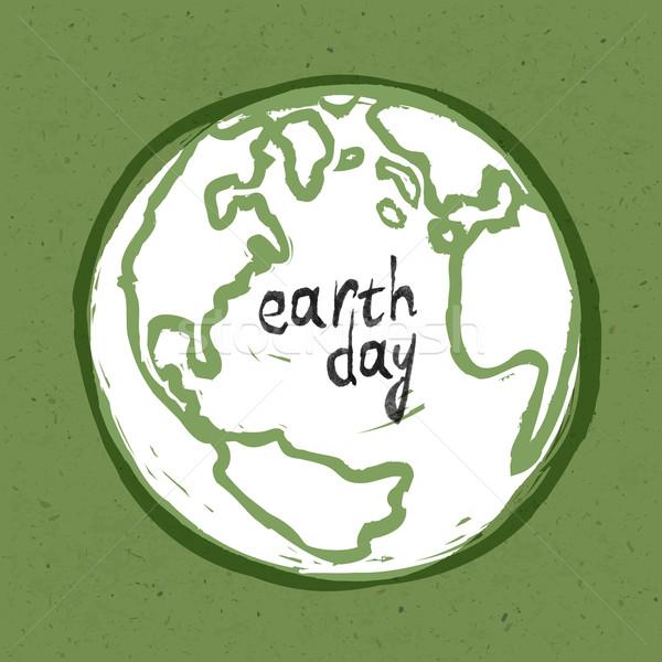 Dzień ziemi plakat tekstury papieru papieru Pokaż Zdjęcia stock © pashabo