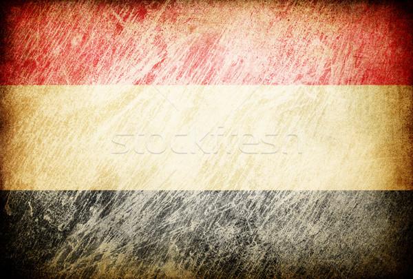 Гранж флаг фоны Йемен текстуры цифровой Сток-фото © pashabo