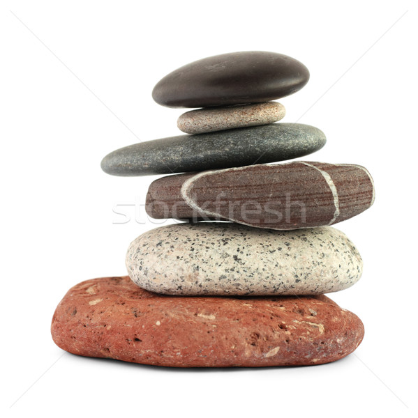 Color stones (zen) isolated on white background. Stock photo © pashabo