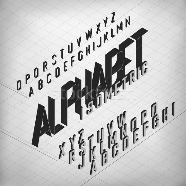 黒 アイソメトリック アルファベット モノクロ グリッド 2 ストックフォト © pashabo