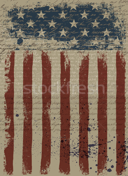 Aged American Patriotic Background. Vector illustration, EPS10. Stock photo © pashabo