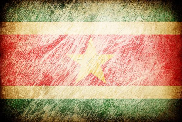Гранж флаг фоны Суринам текстуры цифровой Сток-фото © pashabo
