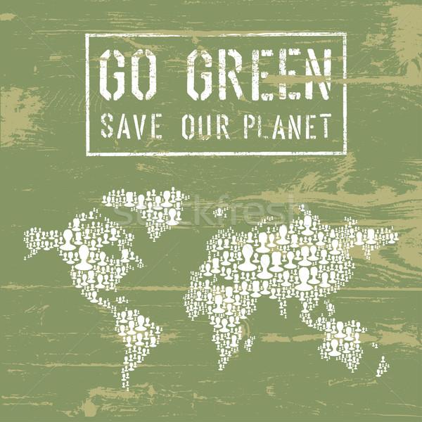 Go Green Conceptual Poster. Vector Stock photo © pashabo