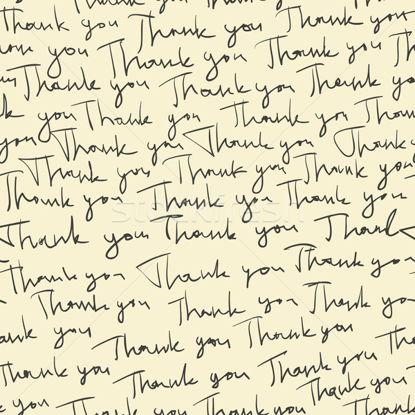 Hand-drawn 'Thank you' seamless pattern. Vector Stock photo © pashabo