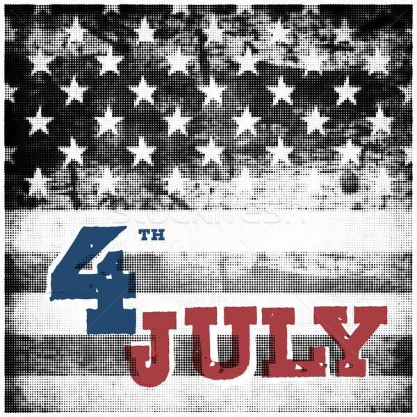 4th of july American independence day poster. Halftone american  Stock photo © pashabo