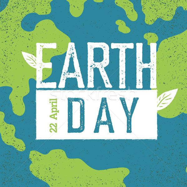 Grunge Earth Day Logo.  'Earth day, 22 April'. Earth day celebra Stock photo © pashabo