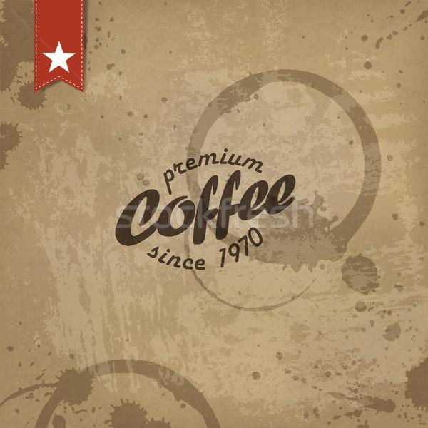 Caffè grunge retro vettore eps10 carta Foto d'archivio © pashabo