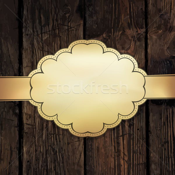 Golden card design template Stock photo © pashabo