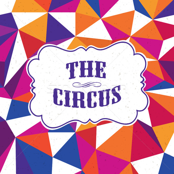 Vintage цирка красочный шаблон текстуры вечеринка Сток-фото © pashabo
