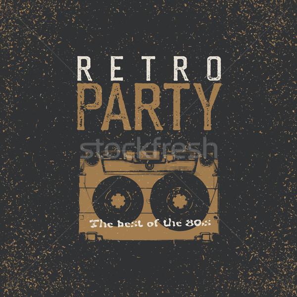 Retro strony najlepszy 80s vintage muzyki Zdjęcia stock © pashabo