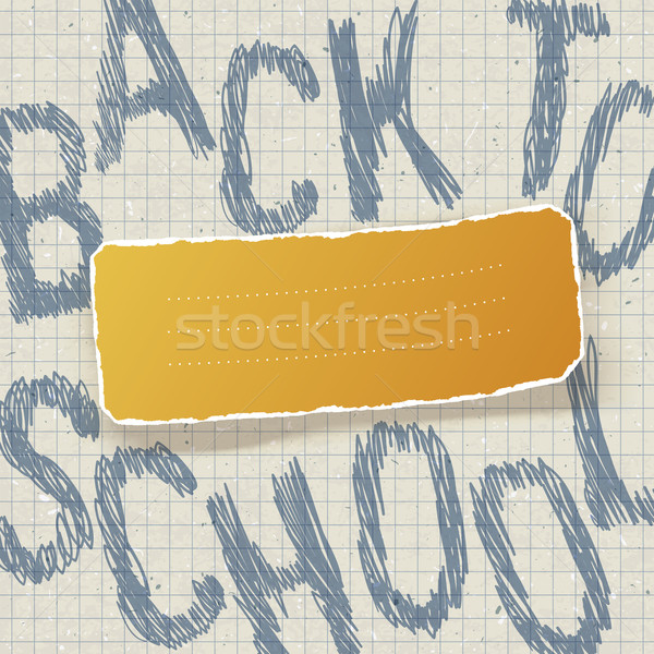 Stock photo: Back to school. Education themed abstract background, vector ill