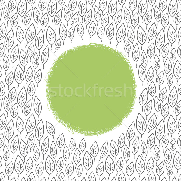 leaf ornamented background with space for text. Vector, EPS8 Stock photo © pashabo