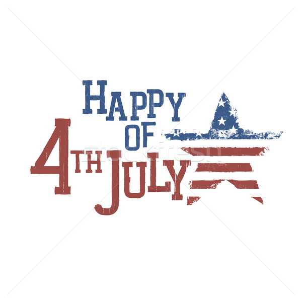 Typography for Fourth July Celebration. Vector, EPS10  Stock photo © pashabo