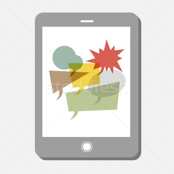 Stockfoto: Tablet · veel · vector · achtergrond