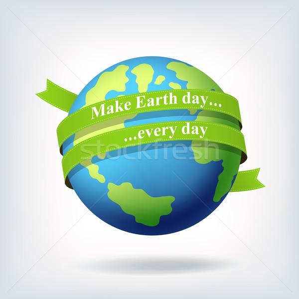 Día de la tierra símbolo diseno árbol mundo resumen Foto stock © pashabo