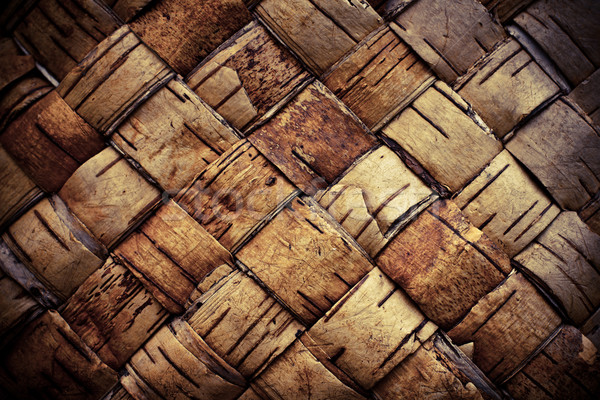 Texture background plaited bast Stock photo © pashabo