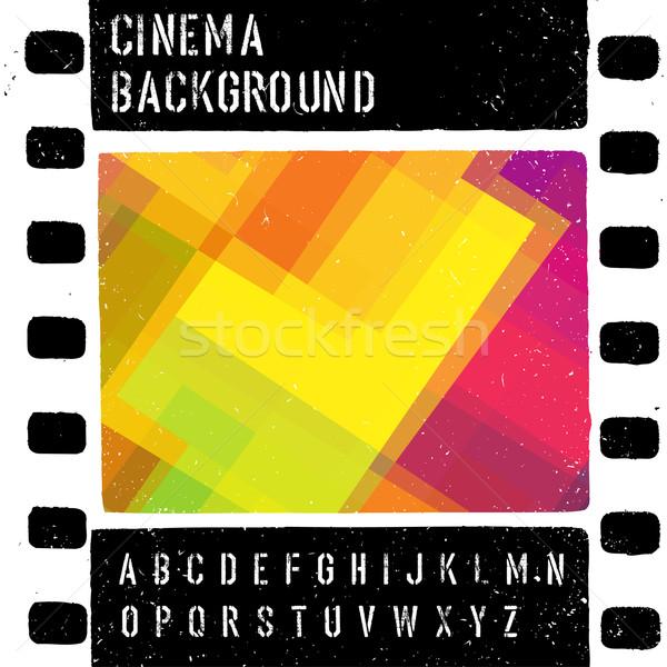 Grunge renkli sinema tasarım şablonu vektör film Stok fotoğraf © pashabo