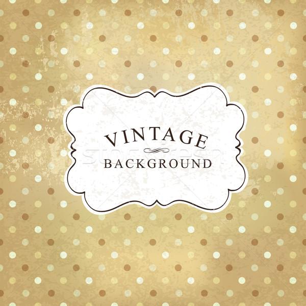 Aged vintage polka dot old paper background. Vector illustration Stock photo © pashabo