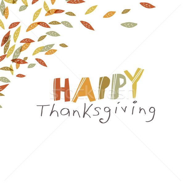 Happy Thanksgiving design. Logo and corner element. For holiday  Stock photo © pashabo
