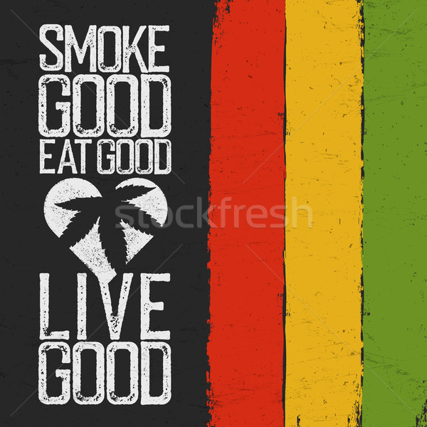 Humo buena comer vivir colores grunge Foto stock © pashabo