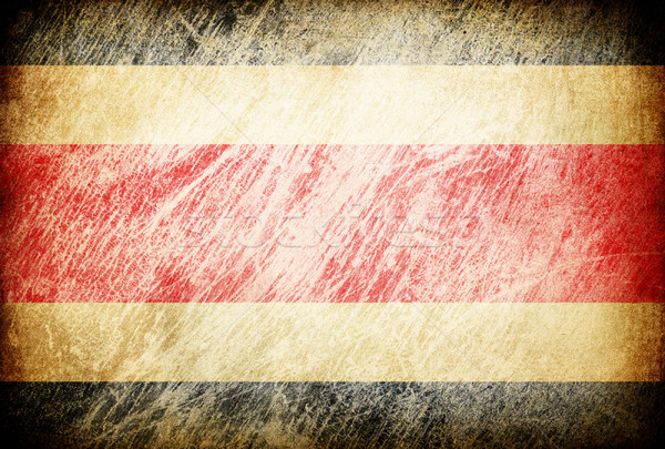 Grunge rubbed flag series of backgrounds. Costa Rica. Stock photo © pashabo