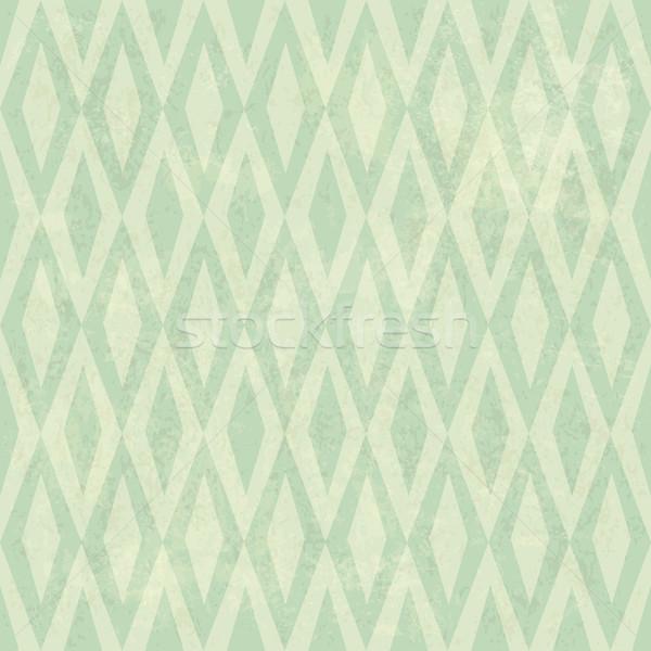 Seamless Vintage Rhombus Pattern. With Grunge Textured Backgroun Stock photo © pashabo