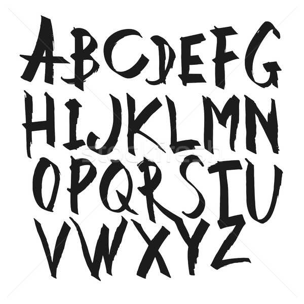 Caligrafia alfabeto cartas vetor alfa Foto stock © pashabo