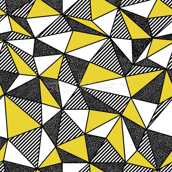 Geometric seamless pattern in retro style. Vintage background. L Stock photo © pashabo