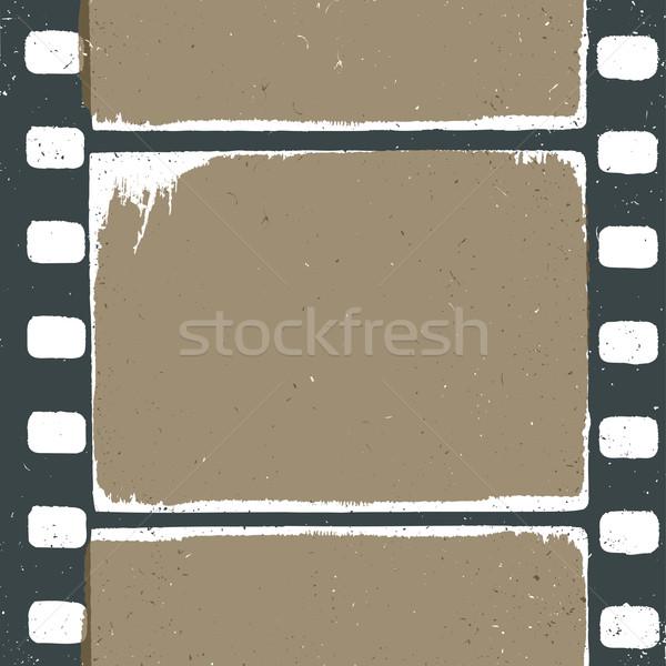 Boş grunge film şeridi dizayn film sinema Stok fotoğraf © pashabo