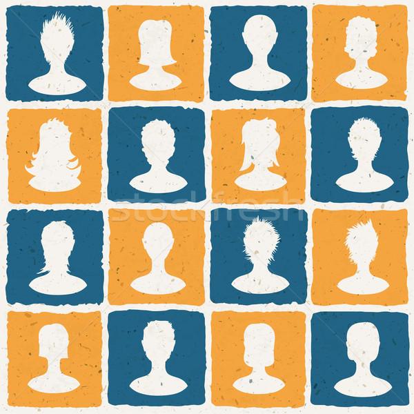 Portraits of many people. Social network concept illustration. V Stock photo © pashabo
