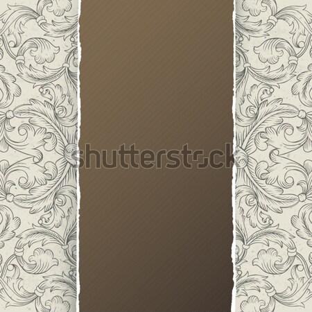 Vintage menu template design, vector, EPS10 Stock photo © pashabo