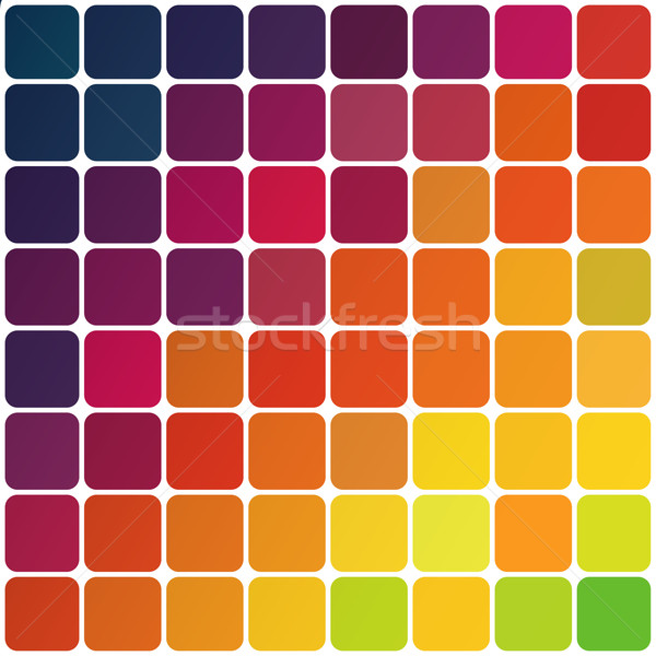 Abstract colorful rounded squares background. Vector, EPS10 Stock photo © pashabo