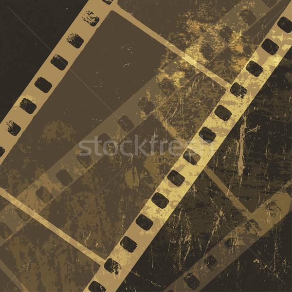 Grunge taśmy filmowej wektora film projektu tle Zdjęcia stock © pashabo