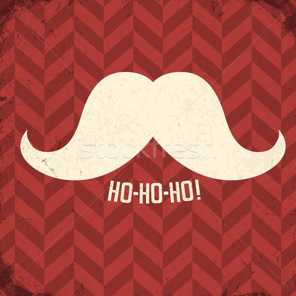 Jahrgang Plakat Schnurrbart Wort Papier Stock foto © pashabo