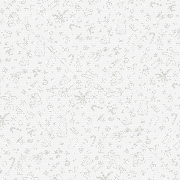 Merry Christmas Hand Drawn Background on Paper Texture Stock photo © pashabo