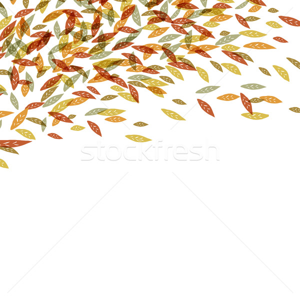 Autumn fallen leaves. Autumn fall illustration. For autumn and t Stock photo © pashabo