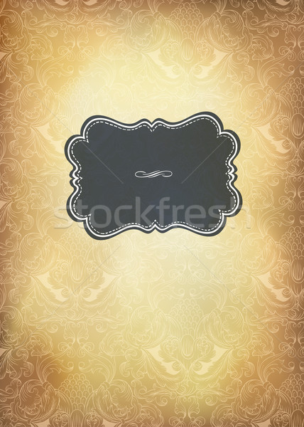 Vintage wedding invitation, vecrtical format. Vector illustratio Stock photo © pashabo