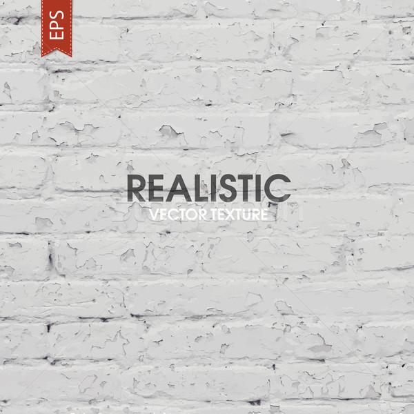 White brick traced texture Stock photo © pashabo