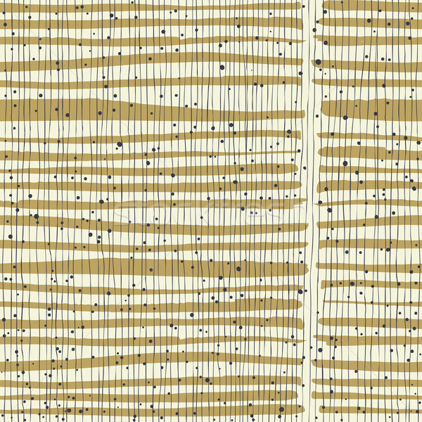 Vertical lines and dots on bold golden stripes. Hand-drawn seaml Stock photo © pashabo