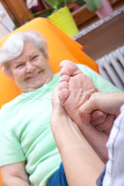 женщины медсестры ногу пациент Сток-фото © Pasiphae