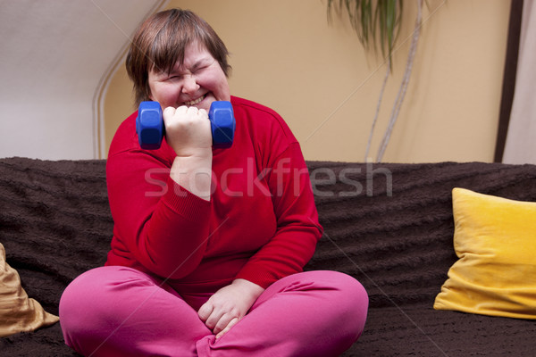 Disabled woman can achieve anything Stock photo © Pasiphae