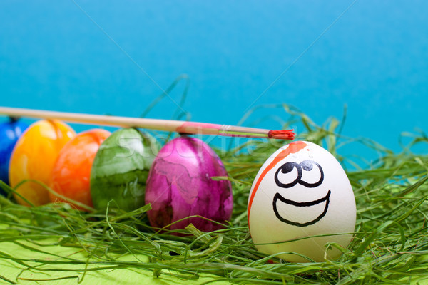 funny blue easter background Stock photo © Pasiphae